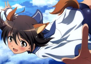 Rating: Questionable Score: 27 Tags: animal_ears inumimi miyafuji_yoshika strike_witches tail User: drop