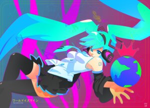 Rating: Safe Score: 6 Tags: ashleigh_hetrick hatsune_miku thighhighs vocaloid world_is_mine_(vocaloid) User: Radioactive