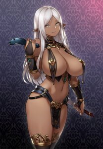 Rating: Questionable Score: 65 Tags: elf houtengeki no_bra pantsu pointy_ears thighhighs weapon User: Benawi3
