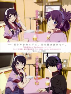 Rating: Safe Score: 33 Tags: araragi_koyomi bakemonogatari hanekawa_tsubasa headphones megane seifuku senjougahara_hitagi watanabe_akio User: drop
