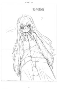 Rating: Questionable Score: 4 Tags: aisaka_taiga monochrome sketch toradora! User: superogira