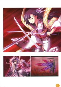 Rating: Safe Score: 2 Tags: 11eyes kengou kimono kusakabe_misao_(11eyes) sword User: crim