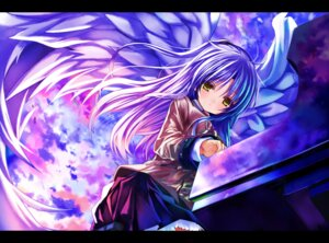 Rating: Safe Score: 33 Tags: angel_beats! seifuku shino_(eefy) tenshi wings User: fireattack