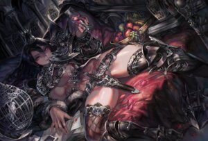 Rating: Questionable Score: 65 Tags: aoin armor no_bra nopan thighhighs underboob weapon User: demonbane1349
