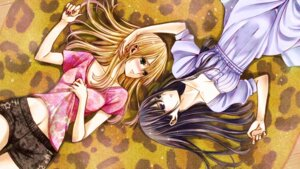 Rating: Safe Score: 23 Tags: aihara_mei aihara_yuzu_(citrus) citrus_(manga) cleavage dress saburouta wallpaper yuri User: kiyoe