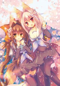 Rating: Safe Score: 56 Tags: animal_ears kitsune saichuu seifuku tail thighhighs User: KazukiNanako