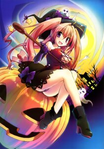 Rating: Questionable Score: 45 Tags: cleavage dress erect_nipples halloween heels horii_kumi no_bra pantsu witch User: fireattack