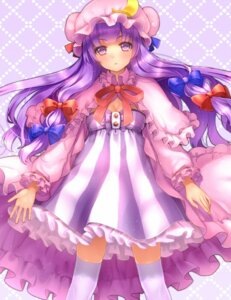 Rating: Safe Score: 18 Tags: cleavage dress maguro_(gulen-x) patchouli_knowledge thighhighs touhou User: Mr_GT