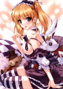 Rating: Explicit Score: 226 Tags: breasts comic_aun cum lolita_fashion misaki_kurehito nipples thighhighs User: fairyren