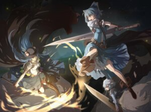 Rating: Safe Score: 22 Tags: cirno hinanawi_tenshi letty_whiterock nye sword touhou User: Mr_GT
