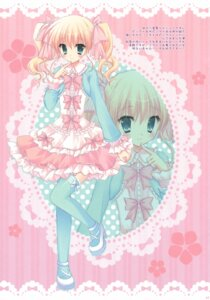 Rating: Safe Score: 38 Tags: cascade dress hasekura_chiaki lolita_fashion paper_texture thighhighs User: syaoran-kun