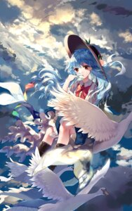 Rating: Safe Score: 35 Tags: hinanawi_tenshi ling_mou skirt_lift touhou User: therssey