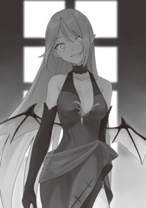 Rating: Safe Score: 4 Tags: azure0608 cleavage dress majo_no_tabitabi monochrome wings User: kiyoe
