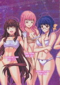 Rating: Questionable Score: 20 Tags: bandages bottomless bra cdpa cleavage crossover kim_kwang-hyun kuro kurokami megane pantsu re:birth sano_akane sarashi sword tachibana_ayaka User: Radioactive