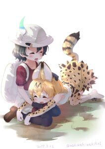 Rating: Safe Score: 26 Tags: animal_ears kaban_(kemono_friends) kemono_friends serval tail thighhighs waki_(pixiv2609622) User: Mr_GT