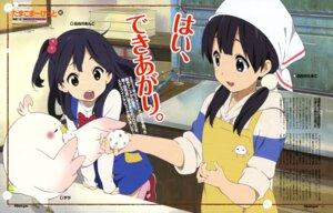 Rating: Safe Score: 37 Tags: dera_mochimazzi horiguchi_yukiko kitashirakawa_anko kitashirakawa_tamako tamako_market User: PPV10