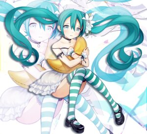 Rating: Safe Score: 25 Tags: dress hatsune_miku kari_kenji thighhighs vocaloid User: Mr_GT