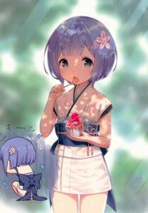Rating: Safe Score: 55 Tags: chibi kamikire_basami re_zero_kara_hajimeru_isekai_seikatsu rem_(re_zero) yasuyuki yukata User: kiyoe