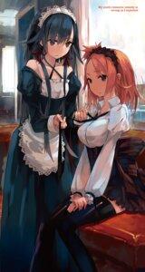 Rating: Safe Score: 56 Tags: maid ponkan_8 thighhighs yahari_ore_no_seishun_lovecome_wa_machigatteiru. yuigahama_yui yukinoshita_yukino User: kiyoe