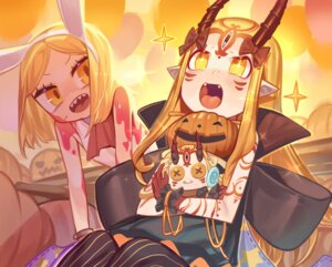 Rating: Questionable Score: 1 Tags: animal_ears blood bunny_ears bunny_girl fate/grand_order halloween horns ibaraki_douji_(fate/grand_order) paul_bunyan_(fate/grand_order) pointy_ears tagme tattoo User: gacharateup