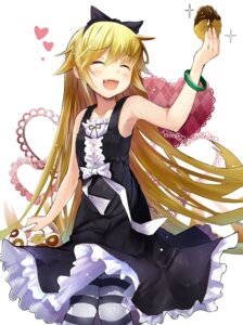 Rating: Safe Score: 95 Tags: bakemonogatari dress efe oshino_shinobu pantyhose User: fairyren