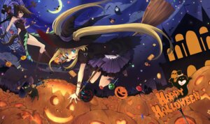 Rating: Safe Score: 33 Tags: aki animal_ears halloween nekomimi tail witch User: Shamensyth