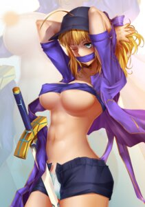 Rating: Questionable Score: 43 Tags: bearwitch breasts cameltoe censored cleavage erect_nipples fate/grand_order fate/stay_night heroine_x open_shirt pantsu sword underboob User: mash