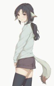 Rating: Questionable Score: 11 Tags: animal_ears ass eruruu miura_naoko sweater tail thighhighs utawarerumono User: yanis