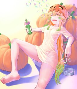 Rating: Questionable Score: 11 Tags: bottomless feet halloween no_bra see_through tagme User: Dreista