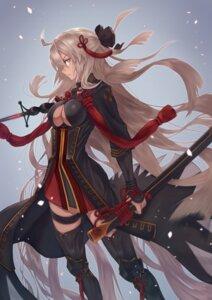 Rating: Safe Score: 29 Tags: fate/grand_order garter majin_saber no_bra sword thighhighs yasu_(segawahiroyasu) User: Nepcoheart