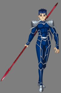 Rating: Safe Score: 4 Tags: fate/stay_night fate/unlimited_codes lancer male transparent_png type-moon weapon User: Yokaiou