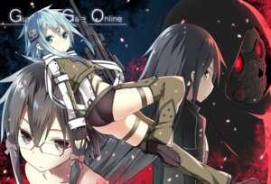Rating: Safe Score: 33 Tags: gun gun_gale_online kirito megane shino_asada sinon sky-freedom sword_art_online thighhighs User: fairyren