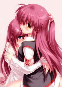 Rating: Questionable Score: 52 Tags: futaki_kanata little_busters! saigusa_haruka yuri zen User: 椎名深夏