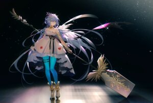 Rating: Safe Score: 24 Tags: dress garter luo_tianyi no_bra pantyhose tagme tattoo tidsean vocaloid weapon User: BattlequeenYume