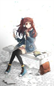 Rating: Safe Score: 35 Tags: akara headphones thighhighs User: fairyren