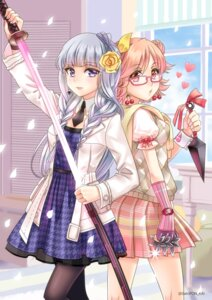 Rating: Safe Score: 18 Tags: dress megane pantyhose sato-pon sword weapon User: Mr_GT