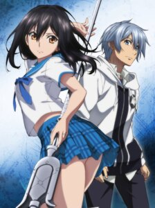 Rating: Safe Score: 48 Tags: akatsuki_kojou himeragi_yukina seifuku skirt_lift strike_the_blood tagme weapon User: kiyoe