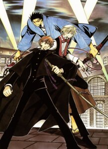Rating: Safe Score: 2 Tags: clamp fai_d._flourite kurogane li_syaoran male tsubasa_reservoir_chronicle User: Share