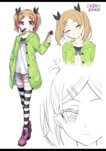 Rating: Safe Score: 56 Tags: gan line_art open_shirt shirobako sweater thighhighs yano_erika User: XTR17