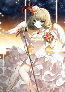 Rating: Safe Score: 50 Tags: cleavage dress heterochromia jeminl takagaki_kaede the_idolm@ster the_idolm@ster_cinderella_girls valentine wings User: Mr_GT