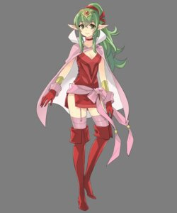 Rating: Questionable Score: 13 Tags: chiki cleavage dress fire_emblem fire_emblem_heroes fire_emblem_kakusei heels ito_noizi nintendo pointy_ears stockings thighhighs transparent_png User: Radioactive