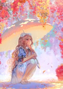 Rating: Safe Score: 39 Tags: alice alice_in_wonderland alphonse heels pantyhose umbrella white_datura User: fireattack