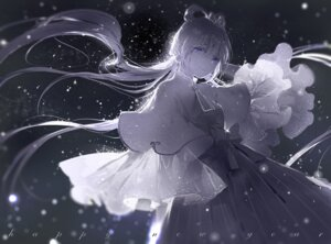 Rating: Safe Score: 50 Tags: dress luo_tianyi monochrome moss_(2225028) vocaloid User: Noodoll
