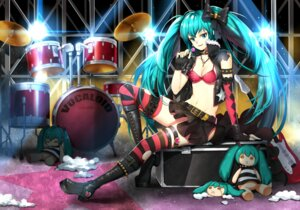 Rating: Safe Score: 41 Tags: bikini_top cleavage greetload guitar hatsune_miku heels open_shirt thighhighs torn_clothes vocaloid User: Mr_GT