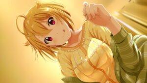 Rating: Safe Score: 25 Tags: ibuki_tsubasa shiokazunoko sweater the_idolm@ster the_idolm@ster_million_live! wallpaper User: saemonnokami