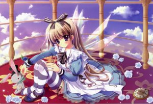 Rating: Safe Score: 37 Tags: alice alice_in_wonderland crease dress izumi_tsubasu thighhighs wings User: Share