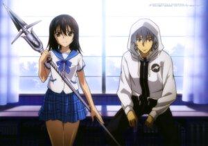 Rating: Safe Score: 15 Tags: akatsuki_kojou himeragi_yukina seifuku strike_the_blood tagme weapon User: drop