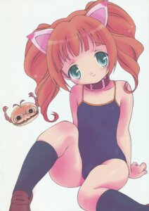 Rating: Safe Score: 9 Tags: animal_ears hogeroh nekomimi paper_texture swimsuits takatsuki_yayoi the_idolm@ster User: Radioactive