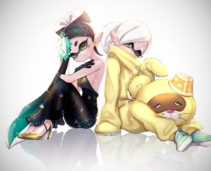 Rating: Safe Score: 17 Tags: aori_(splatoon) dress heels hotaru_(splatoon) no_bra pointy_ears puchiman splatoon User: Mr_GT