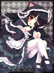Rating: Questionable Score: 35 Tags: 7sta cameltoe eyepatch gothic_lolita loli lolita_fashion mirai_(senran_kagura) pantsu pantyhose senran_kagura tail wings User: blooregardo